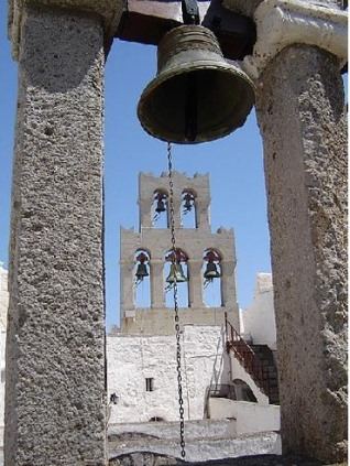 Monastery of St John bell towers Patmos Island